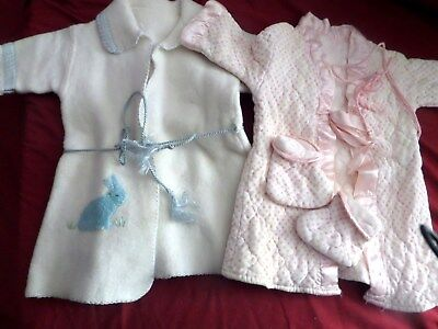 2 Vintage Baby robe housecoat clothes lot