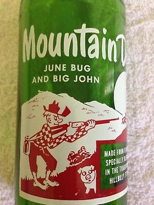 """Mountain Dew Name Bottle June Bug And Big John """" VERY RARE """"  Mt Dew  Mtn. Dew"""