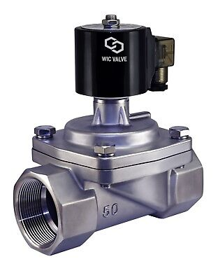 """2"""" Inch Stainless Zero Differential Electric Steam Solenoid Valve NC 24V AC"""