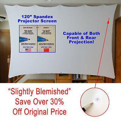 "120"" Portable Indoor/Outdoor Spandex Projector Screen *BLEMISHED (c) Made in USA"