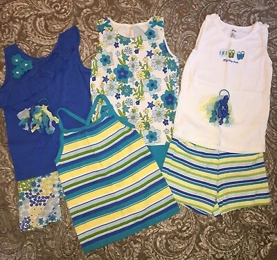 9 pc LOT GIRLS GYMBOREE SEA SPLASH SHIRT SHORTS SIZE 12