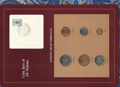 Coin Sets of All Nations UAE United Arab Emirates UNC 1973-1989 Falcon RARE