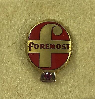Vintage Gold Filled FOREMOST DAIRY ICE CREAM Co. - Service Award - Lapel Pin