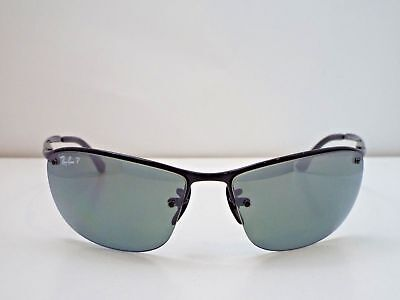 37df4effcc9 Authentic Ray-Ban New Rb 3542 002 5L Blk Grey Mirror Chromance Polarized 100