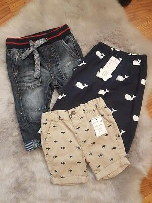 New And Used Boys 6-9 Months Bundle Jeans Whale Pants Shark Shorts Summer