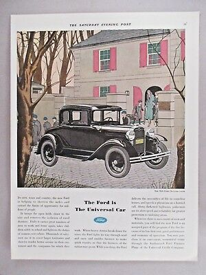 Ford De Luxe Coupe Automobile PRINT AD - 1931 ~~ motor car, auto