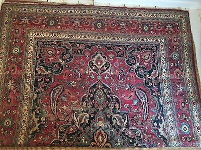 Antique Meshed Rug C1920, perfect for dining, living or bedroom