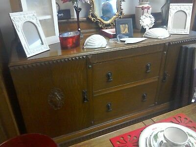 Edwardian solid oak sideboard immaculate condition