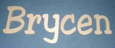 """Unpainted Wooden Wall Letters 10"""" size Home Decor Kids Room Baby Nursery Jester"""