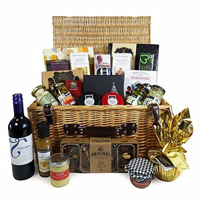 The Luxurious Gourmet Food and Wine Hamper - Presented in a Traditional Wicker -