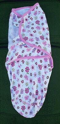 infant/baby girl swaddle me by summer 0-4 months swaddle/wrap