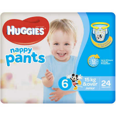 Huggies Nappy Pants For Boys 15kg or Over Junior 24 Pack