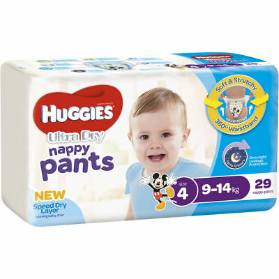 Huggies Ultra Dry Nappy Pants Toddler Boys Size 4 29 Pack
