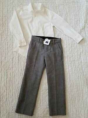 Gorgeous Outfit JANIE and JACK Pants BNWT and CREW CUTS Shirt NWOT boys 5T $59 !
