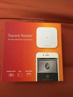 Square Reader Contactless Chip Credit Card Swiper POS Terminal White A-SKU-0113