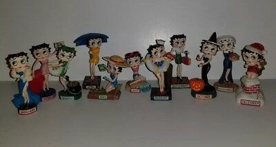 Lot of 11 Betty Boop Collector Figurines The Danbury Mint