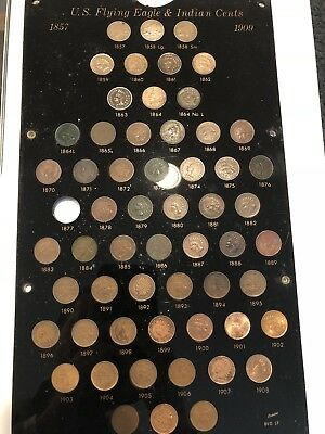 1857-1909 US Flying Eagle & Indian Cents Set