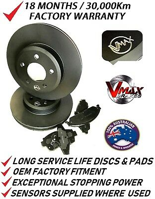 fits HOLDEN Astra TS SRI Turbo 2002-2004 FRONT Disc Brake Rotors & PADS PACKAGE