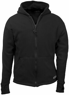 Schampa Fleece Lined Zip Hoody Md Black FLHZ01-2