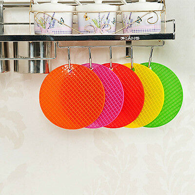 Waterproof Silicone Round Hainging Heat Resistant Table Mat Cup Coaster aua