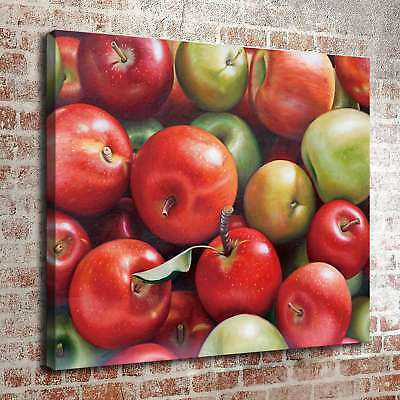Green Apples and Red Apples Home Decor HD Canvas Print Picture Wall Art Painting