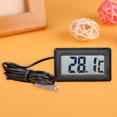 LCD Embedded Digital Thermometer For Fridges Freezer Aquarium FISH TANK Home