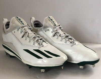 503d1214c84d Adidas Energy Boost Icon 2 2.0 Metal Baseball Cleats Size12 White Green ( Q16533)