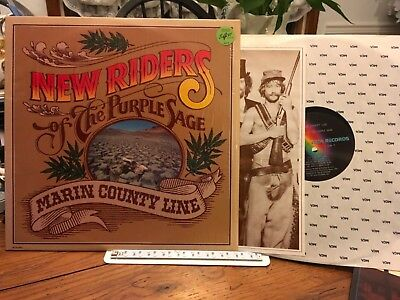 NEW RIDERS OF THE PURPLE SAGE LP Marin County Line MINT SHRINK ORIG PRESS Insert