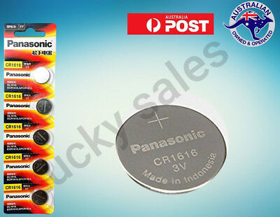 Panasonic CR1616 Lithium Coin Cell Battery DL1616 ECR1616 Expiry 2027 Genuine