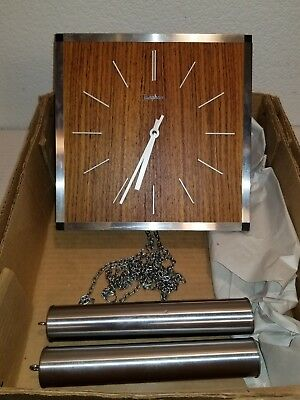 Mid Century Nelson Eames era Junghans Germany weighted pendulum chime wall clock