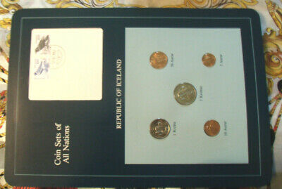 Coin Sets of All Nations Iceland w/card all 1981 UNC 100 + 200