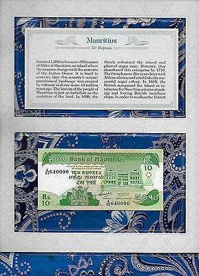 *Most Treasured Banknotes Mauritius 10 Rupees 1985 P35b GEM UNC Prefix A/63