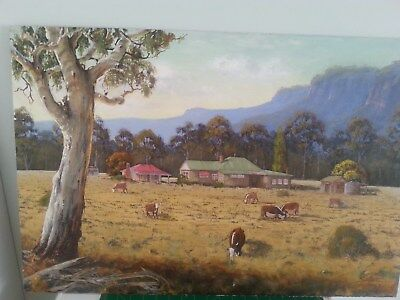 75cmx51cm PAINTING AT MEGALONG VALLEY BLUE MOUNTAINS