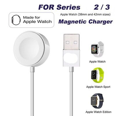 For Apple Watch 2/3 iWatch 38mm / 42mm Magnetic Charger Charging Pad Cable