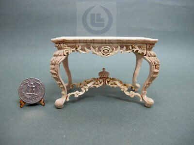 Miniature 1:12 Scale Victorian Carved Desk For Doll House [Unfinished]