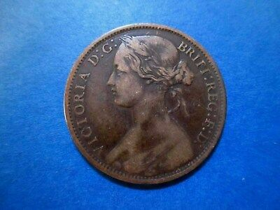 Great Britain Penny 1862 Queen Victoria Lightly Circulated