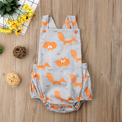 UK Baby Boy Girl Kids Sleeveless Romper Jumpsuit Toddler Summer Clothes Outfit