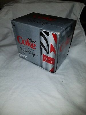 UNOPENED Diet Coke Taylor Swift 6 PK Slim Cans - RARE FIND! - Brand New & Sealed