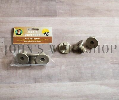 """7/8"""" 'Easy Bolt' Replacement Parts Bundle - Three Suncast Fasteners - Tan"""