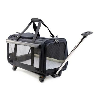 okdeals Pet Carrier Stroller,Soft-Sided Travel with Removable Wheels for...