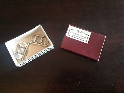 Sparkly Vintage Belt Buckle With Diamond Effect Paste Stones In Original Box