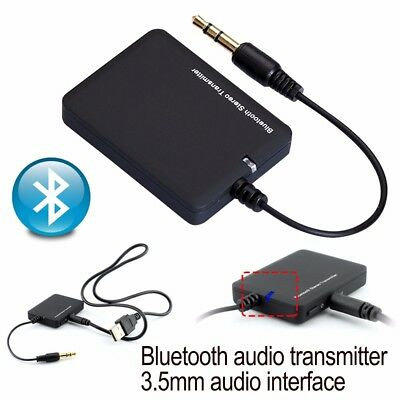 Bluetooth 3.5mm Stereo Music Transmitter A2DP Audio Adapter Dongle For TV PC MP3