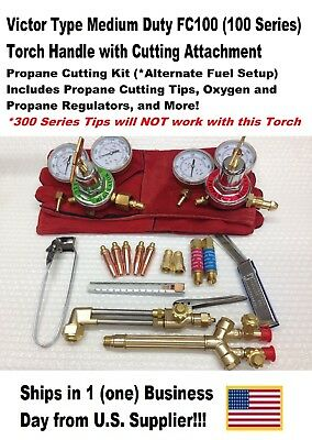 Victor Type 100Fc Cutting Torch W/ Cut Attachment/Regulators-Propane Kit !!!