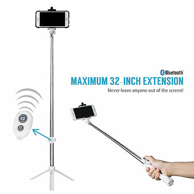 Rechargeable Bluetooth Selfie Stick Extendable Monopod Tripod For Samsung iPhone