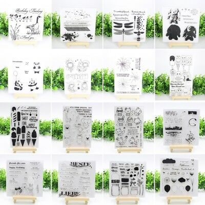 Clear Silicone Rubber Stamp Transparent Cling Diary Scrapbooking Card DIY Decors