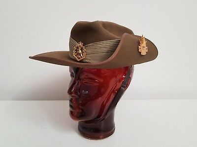 Royal Australian Regiment Slouch Hat + Original Skippy & Rising Sun Hat Badge.