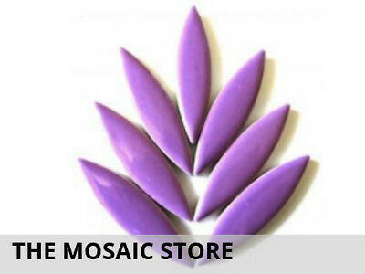 XL Purple Ceramic Petals - Mosaic Tiles Supplies Art Craft