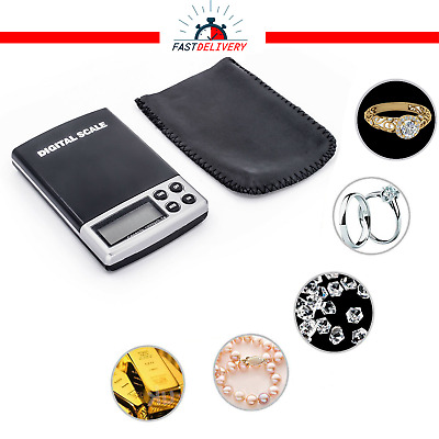 LCD Digital Electronic Balance Scale Portable Pocket Weighing Gold Jewellery