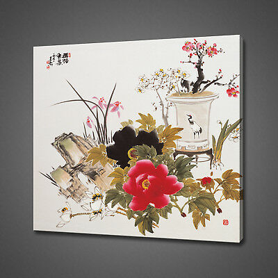 Chinese Oriental Art Canvas Picture Print Wall Art Home Decor Free Delivery