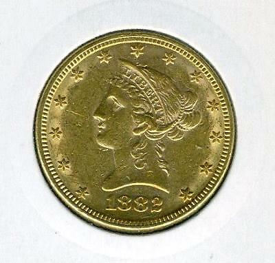 1882 United States Gold $10.00 Coronet Head - Free Postage in Australia